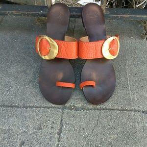 Giuseppe Zanotti Ring Toe Slip on Sandals